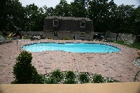 Oasis Fiberglass Pool in Great Mills, MD